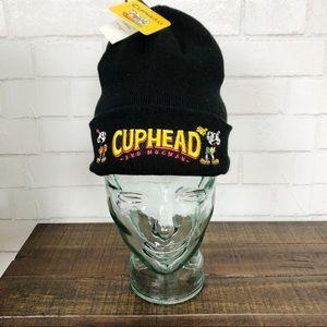 Cuphead & Mugman Black Logo Unisex Beanie Hat NEW